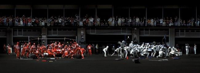 Andreas Gursky(German, b. 1955) 'F1 Boxenstopp 1' 2007