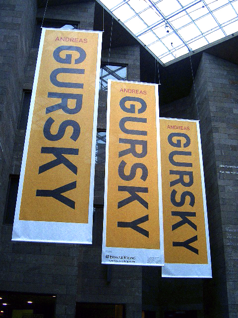 Andreas Gursky banner at NGV International exhibition, Melbourne