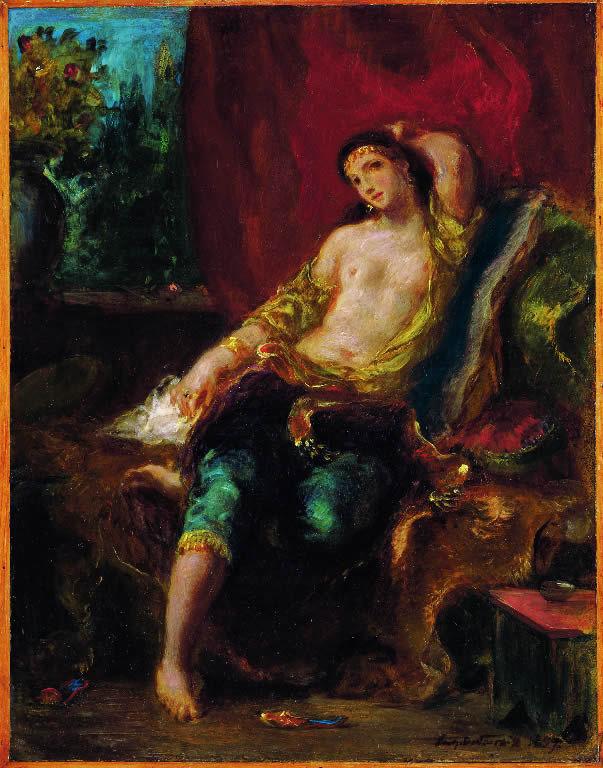 Eugène Delacroix(1798-1863) 'Odalisque' 1857