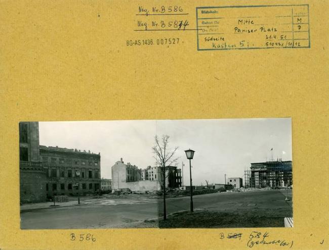 Fritz Tiedemann(German, 1915-2001) 'Pariser Platz (south side)April 21, 1951'