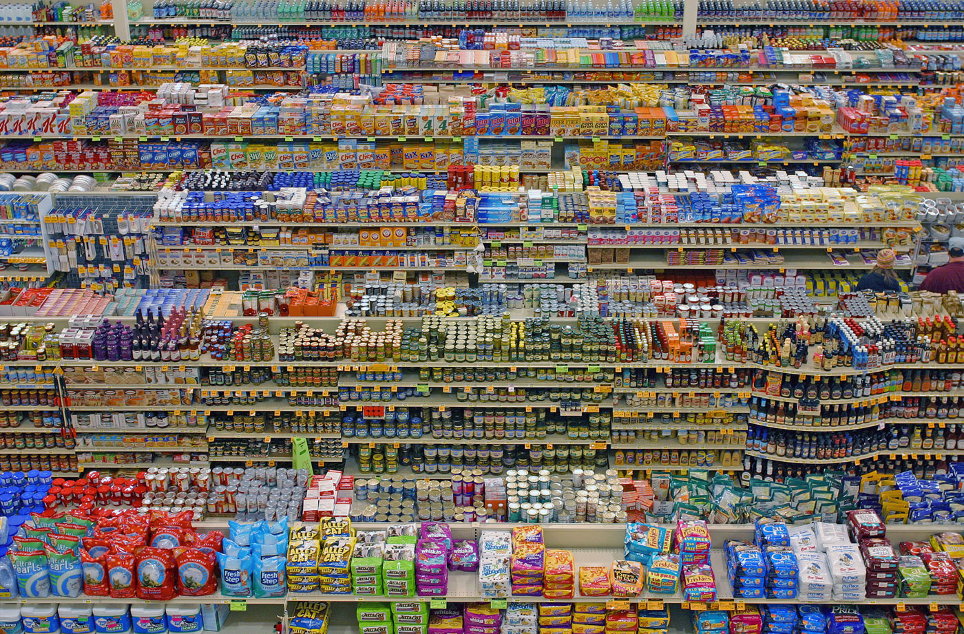 Andreas gursky diptych 99 cent store ii 2001