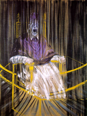"Francis Bacon. ""Study after Velázquez's Portrait of Pope Innocent X (1953)"""