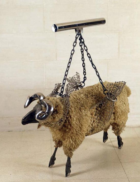 """Les Kossatz. """"Ram in sling"""" 1973"""