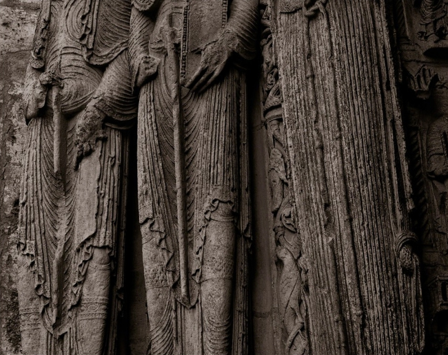Linda Connor. 'Portal Figures, Chartres Cathedral, France' 1989