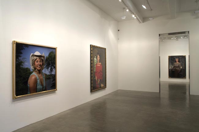 Installation view of Cindy Sherman exhibition at Metro Pictures Gallery, New York
