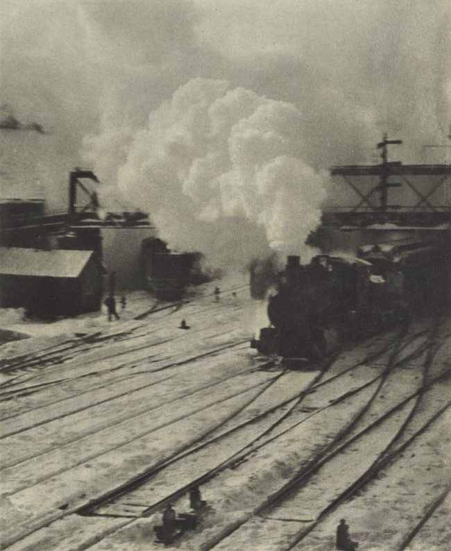 Alfred Steiglitz. 'Snapshot - In the New York Central Yards' Negative 1903; Printed 1910