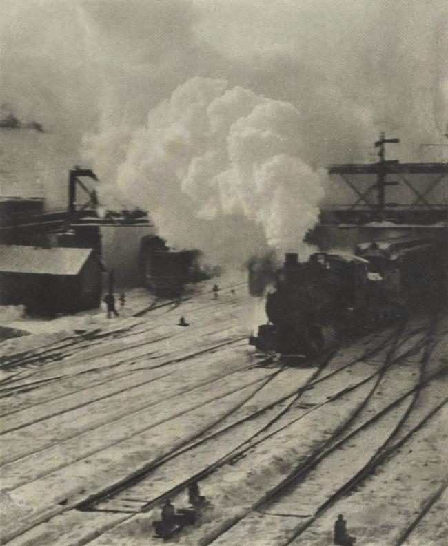 Alfred Steiglitz. 'Snapshot - In the New York Central Yards' Negative 1903; Printed 1910