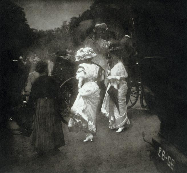 Edward Steichen. 'Grand Prix at Longchamp, After the Races' 1907