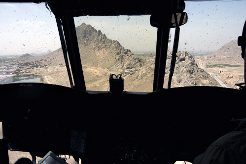 "Lyndell Brown and Charles Green. ""View from Chinook, Helmand province, Afghanistan"" 2007-08"