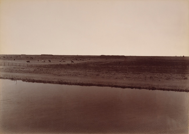 Carleton Watkins. 'View on the Calloway Canal, near Poso Creek, Kern County' 1887