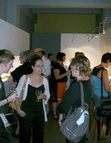 Bettina Speckner opening crowd at Gallery Funaki, Melbourne