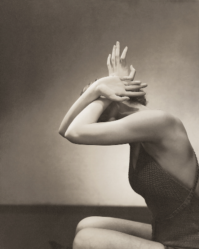 Edward Steichen (1879-1973) 'Model posing for Beauty Primer on hand and nail care' 1934