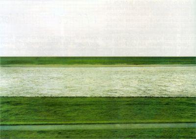 "Andreas Gursky. ""Rhein"" 1996"
