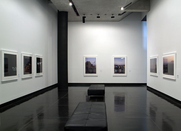 Lyndell Brown and Charles Green. Installation view of photographs from the exhibition 'Framing Conflict' at The Ian Potter Museum of Art, The University of Melbourne