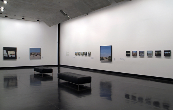Lyndell Brown and Charles Green. Installation view of paintings from the exhibition 'Framing Conflict' at The Ian Potter Museum of Art, The University of Melbourne 2009