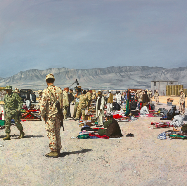 Lyndell Brown and Charles Green. 'History painting: market, Tarin Kowt, Uruzgan province, Afghanistan' 2007