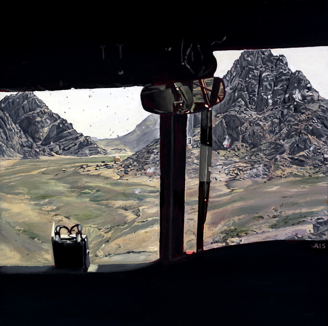 Lyndell Brown and Charles Green. 'View from Chinook, Helmand province, Afghanistan' 2007