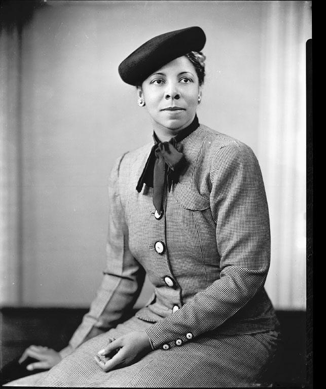 """Addison Scurlock. """"Miss Vinita Lewis"""" c.1940"""