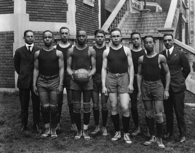 Addison Scurlock (American, 1883-1964) 'Dunbar High School Champion Basketball Team' 1922