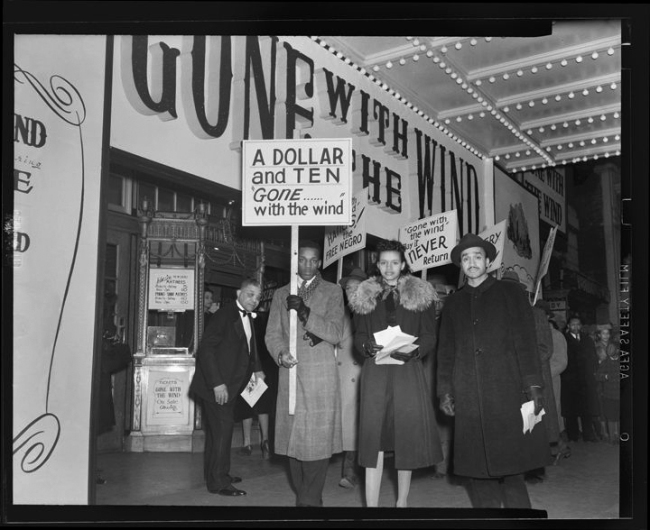 Addison Scurlock(American, 1883-1964) 'Picketing Gone with the Wind outside Lincoln Theatre' 1947