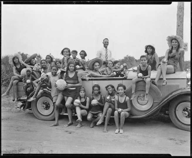 Addison Scurlock (American, 1883-1964) 'YWCA camp for girls, Highland Beach Girls, Maryland' 1930-31