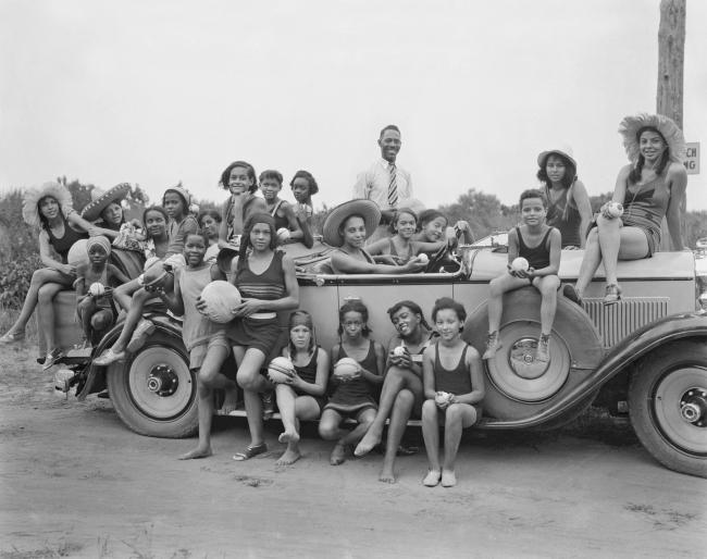 Addison Scurlock(American, 1883-1964) 'YWCA camp for girls, Highland Beach Girls, Maryland' 1930-31