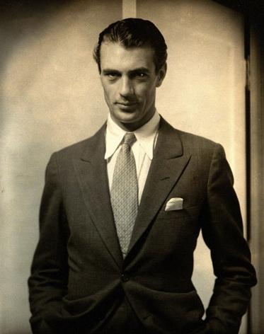 """Edward Steichen. """"Gary Cooper"""" 1930"""