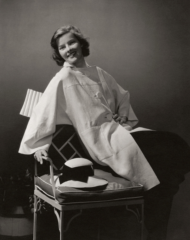 Edward Steichen. 'Katharine Hepburn wearing a coat by Clare Potter' 1933