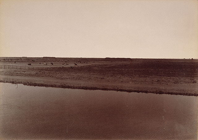 "Carleton Watkins. ""View on the Calloway Canal, near Poso Creek, Kern County"" 1887"
