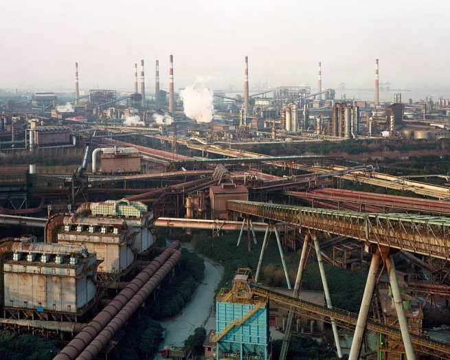 Edward Burtynsky. 'Bao Steel #2, Shanghai, China, 2005'
