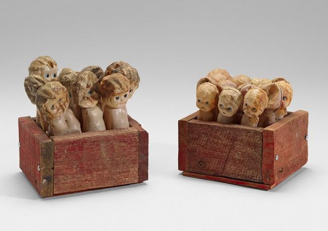 Rosalie Gascoigne(1917-1999) 'Study: dolly boxes A&B' 1976