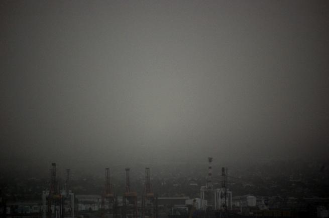 Marcus Bunyan. 'Looking towards the docks, Melbourne' 2009