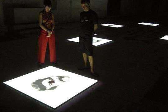 Óscar Muñoz. 'Biografías' 2002 installation view