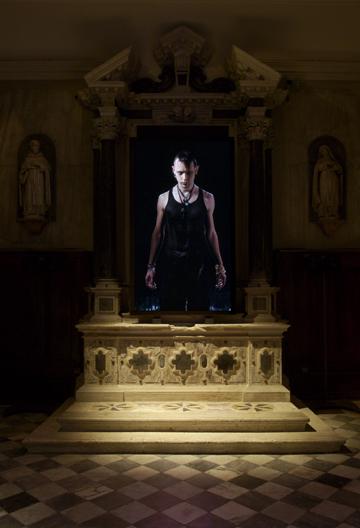 Bill Viola. 'Ocean Without A Shore' 2007 original video installation at church of San Gallo