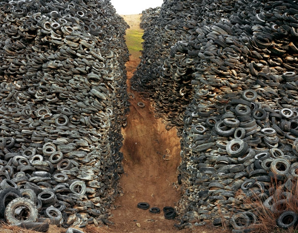 Edward Burtynsky. 'Oxford Tire Pile #8, Westley, California 1999'