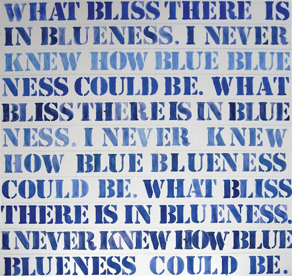 Mary Newsome. 'What Bliss There is in Blueness' 2009