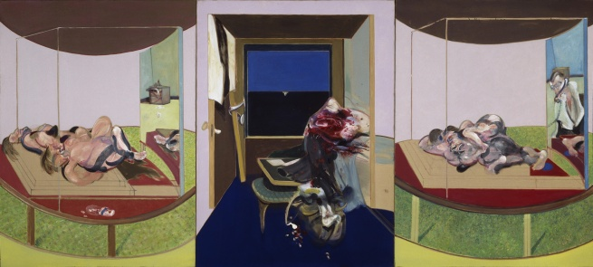 Francis Bacon (1909-1992) 'Triptych inspired by T.S. Eliot's 'Sweeney Agonistes'' 1967