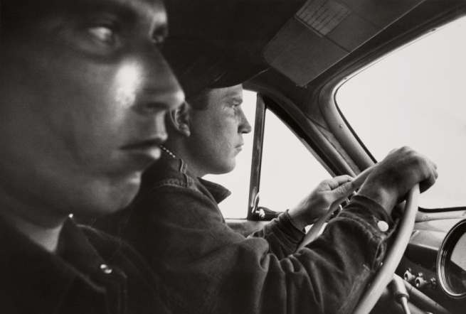 Robert Frank. Americans 32 'U.S. 91, Leaving Blackfoot, Idaho' 1956