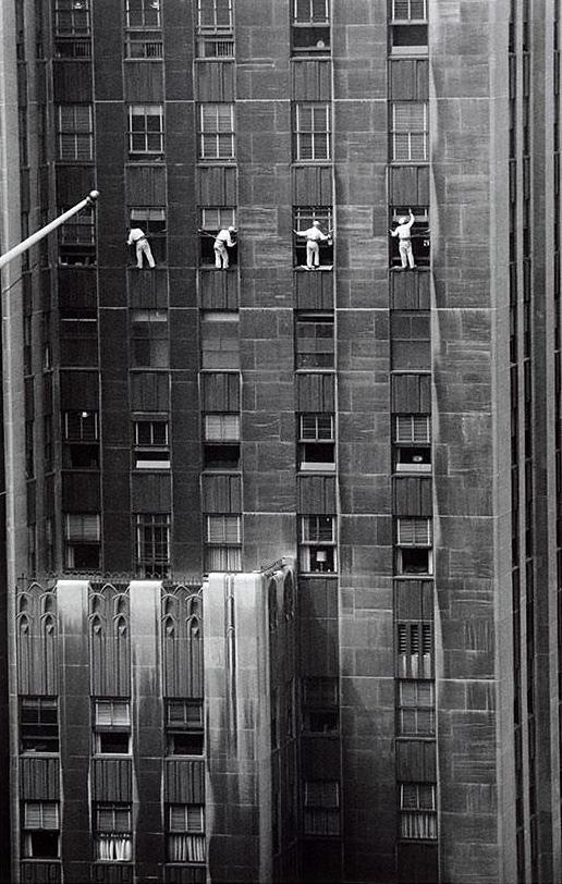 Inge Morath. 'Window washer' 1958