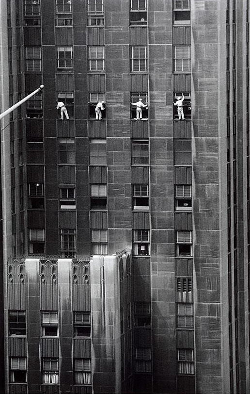Inge Morath. 'Window washer' 1958