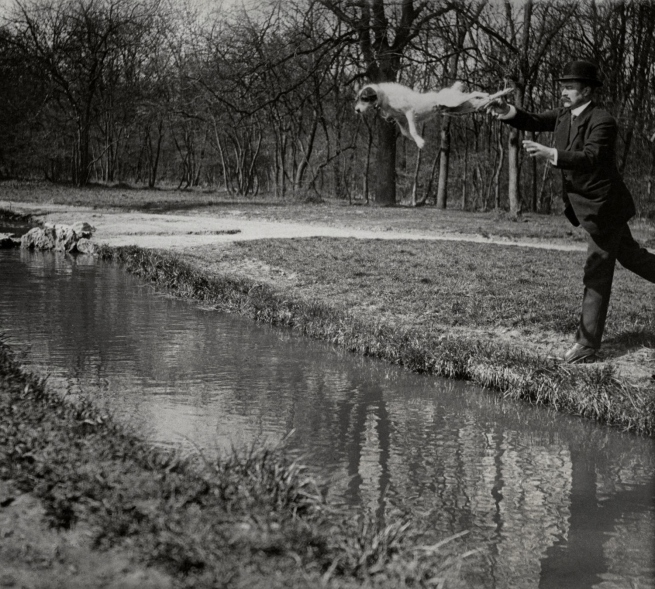 Jacques Henri Lartigue. 'Mr Folletete (Plitt) et Tupy, Paris, March 1912'