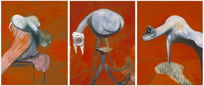 Francis Bacon (1909-1992) 'Three Studies for Figures at the Base of a Crucifixion' c. 1944