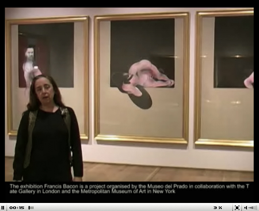 Description of exhibition of the work of Francis Bacon at the Prado Museum, Madrid by curator Manuela Mena