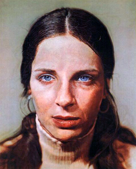 Chuck Close. 'Leslie' 1973