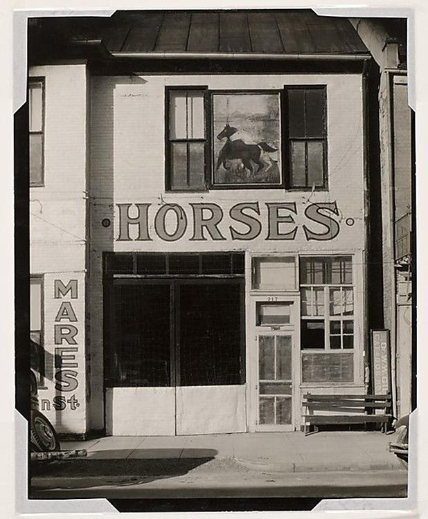Walker Evans (American, 1903-1975) 'Stable, Natchez, Mississippi' March 1935