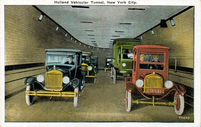 Unknown Artist. 'Holland Vehicular Tunnel, New York City' 1920s