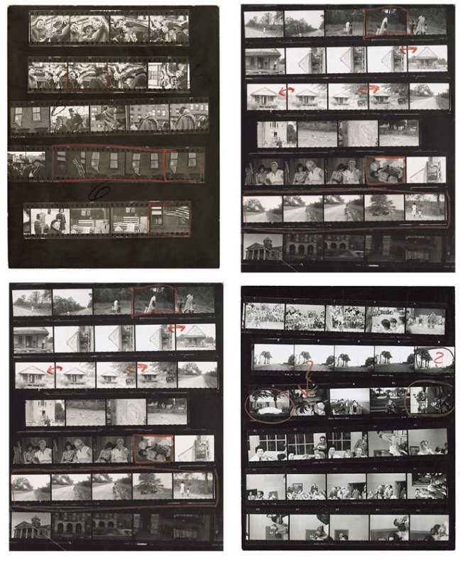 Robert Frank. Contact sheets for 'The Americans'