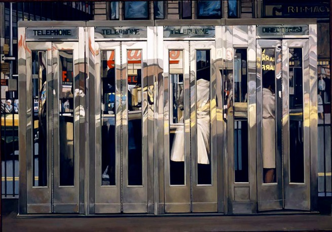 Richard Estes. 'Telephone Booths' 1967