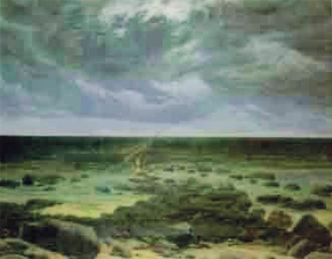 Thomas Ruff. 'jpeg cdf01' 2004