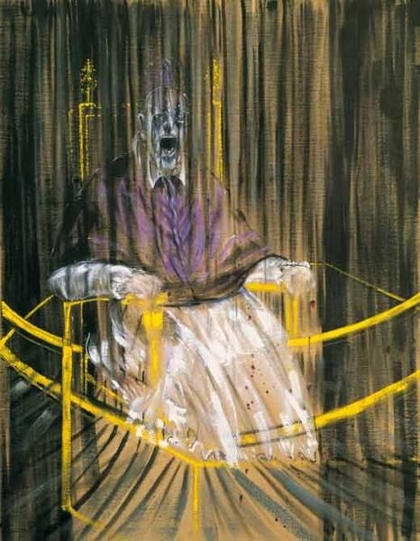 Francis Bacon. 'Study after Velázquez's Portrait of Pope Innocent X' 1953